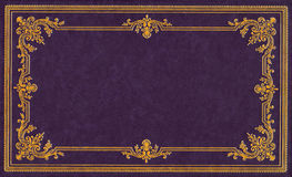 Violet leather cover Royalty Free Stock Photo