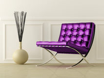 Violet leather seat Royalty Free Stock Photos