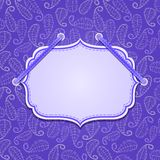 Violet Leaves Pattern Card Fotografia Stock Libera da Diritti