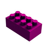 Violet lego cube for games Royalty Free Stock Image