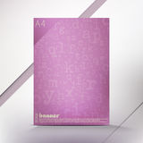 Violet letters Royalty Free Stock Photography