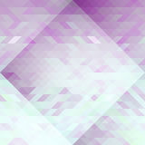Violet and light blue triangles abstraction geometric seamless pattern. Vector Royalty Free Stock Images