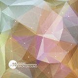 Violet light polygonal background Royalty Free Stock Photos