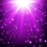 Violet lights shining with sprinkles. Illustration Of Violet lights shining with sprinkles Royalty Free Stock Image