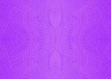 Violet line art with beautiful abstract pattern royalty free stock photos