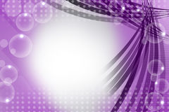 Violet line with bubble right side, abstract background Royalty Free Stock Photos