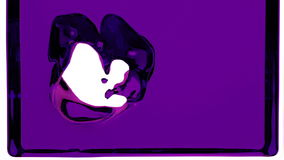 Violet liquid fills up screen, with alpha channel FULL HD. 3d render stock footage