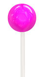 Violet lollipop isolated on white background. With Clipping Path Stock Photography