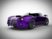Violet luxury brandless sport car on white background Royalty Free Stock Photos