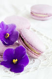 Violet macaroon Stock Photos