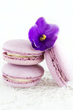 Violet macaroon Royalty Free Stock Images