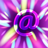 Violet magic powerful email Stock Photos