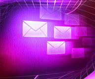 Violet Mail Abstract Background Royalty Free Stock Photos
