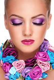 Violet make-up Stock Image
