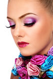 Violet make-up Stock Images