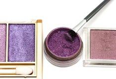 Violet make-up eyeshadows Stock Images