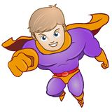 Violet Male Superhero Cartoon Character illustration royaltyfri illustrationer