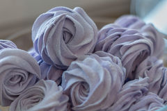 Violet marshmallow. In form of rose Royalty Free Stock Images