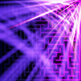 Violet maze with light Royalty Free Stock Photo