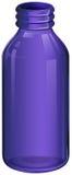 A violet medicine bottle Stock Photos
