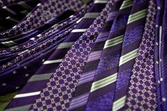 Violet men's ties Royalty Free Stock Photos