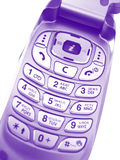 Violet mobile phone Stock Photography