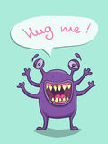 Violet monster Royalty Free Stock Images
