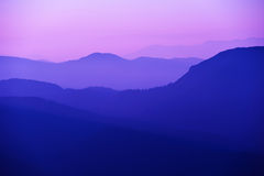 Violet mountains Royalty Free Stock Photos