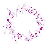 Violet music frame - vector Stock Photo