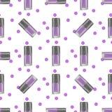 Violet nagellak naadloos patroon Royalty-vrije Stock Afbeeldingen