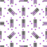 Violet nail polish seamless pattern Royalty Free Stock Images