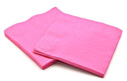 Violet napkins Royalty Free Stock Photos