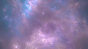 Violet Nebula natthimmel Royaltyfria Bilder
