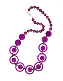 Violet necklace Royalty Free Stock Image