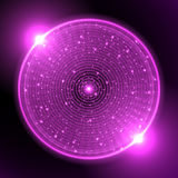 Violet neon circle Royalty Free Stock Image
