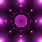 Violet neon circle Royalty Free Stock Photography