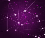 Violet Network Background Royalty Free Stock Photography