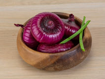 Violet onion Royalty Free Stock Images