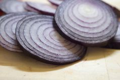 Violet onion Royalty Free Stock Photos