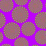 Violet optical illusion vector illustration