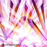 Violet and orange crystals abstract design template. Vector shiny background made with crystalic triangles. Low poly. Abstract crystalline style background for stock illustration