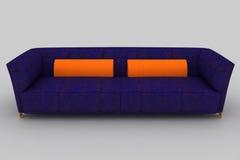 Violet orange sofa stock photo