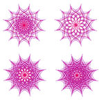 Violet ornament snowflake set Stock Photos