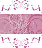 Violet ornamental frame Stock Images