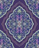 Violet ornamental textile. Stock Image