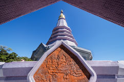 Violet pagoda Royalty Free Stock Images