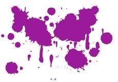Violet paint splash isolated on white background. Violet paint splash isolated white background purple new spot design creative ink water oil acrylic ripple stock illustration