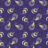 Violet paisley seamless pattern. It can be used like seamless pattern foe web, textile, wrapping paper, napkins,  skrapbooking paper e.t. c Stock Photo