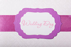 Violet paper frame Royalty Free Stock Images