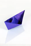 Violet paper ship Royalty Free Stock Images